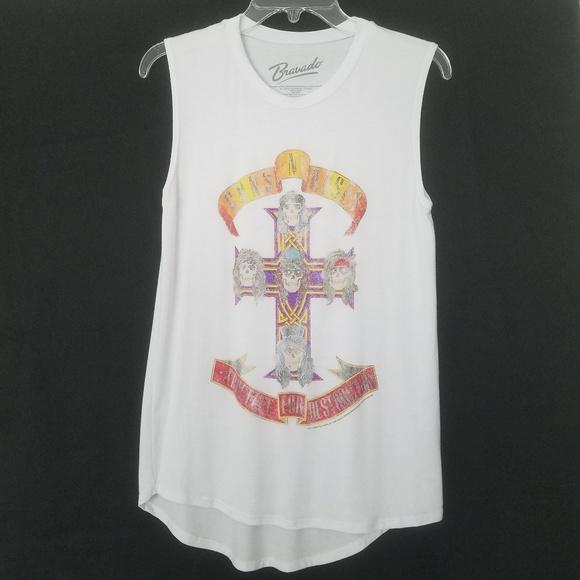 Bravado Tops White Sleeveless Guns Roses Tshirt Poshmark